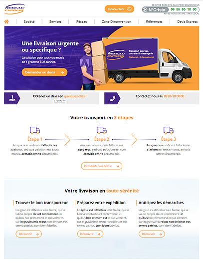 Création site internet Transport