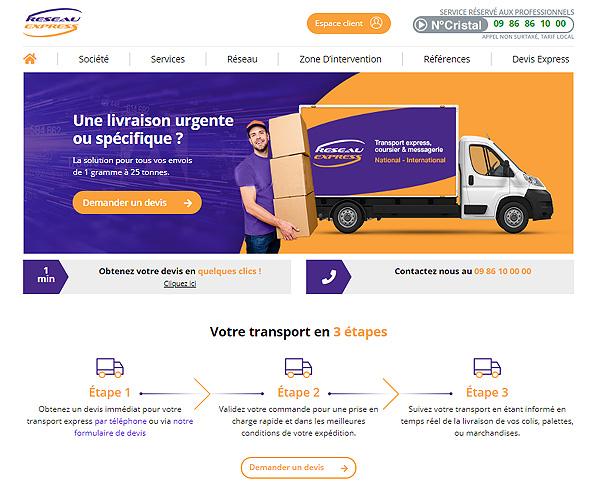 Création site : Réseau Express